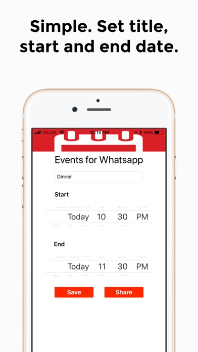 Events for Whatsapp screenshot two