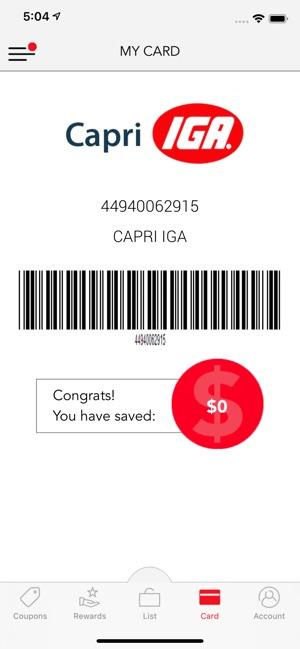 capri iga digital coupons