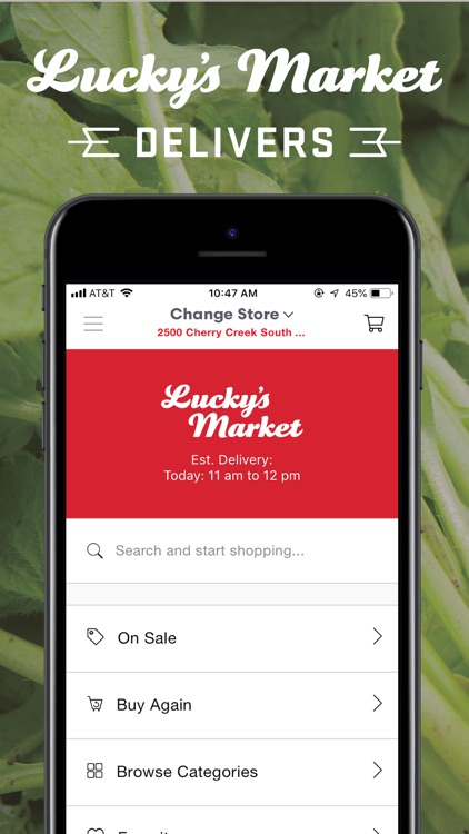Lucky's Market Delivers by Shipt