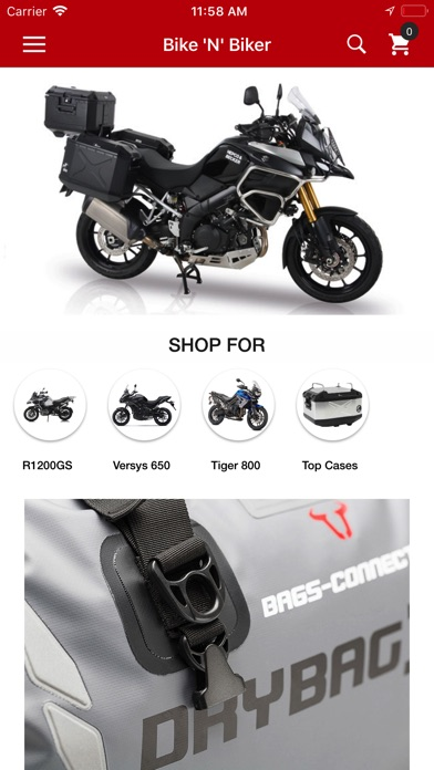 Screenshot for Bikenbiker Online Shopping App in United States App Store