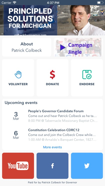 Colbeck for Governor!