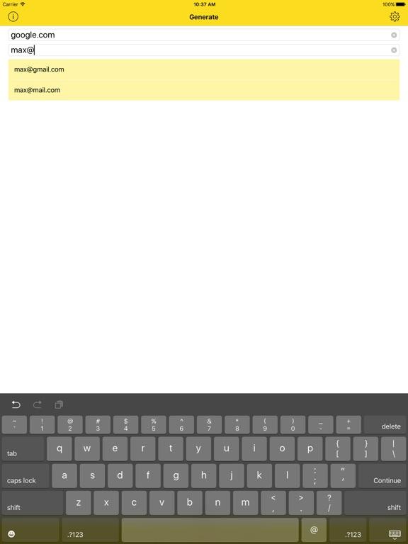 Passwort - Unique passwords iPad