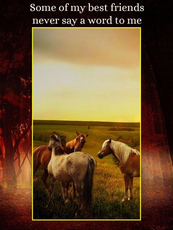 Horses - Wallpapers + Add Text screenshot 8