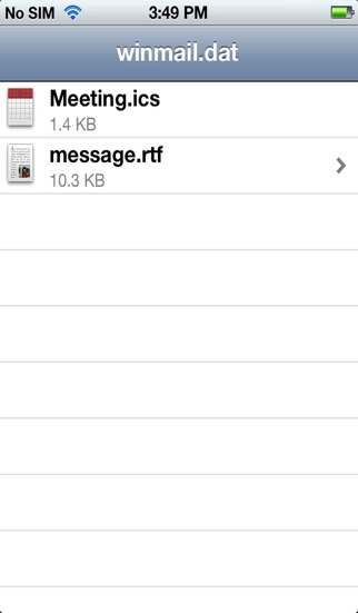 Screenshot for Winmail File Viewer in Sweden App Store