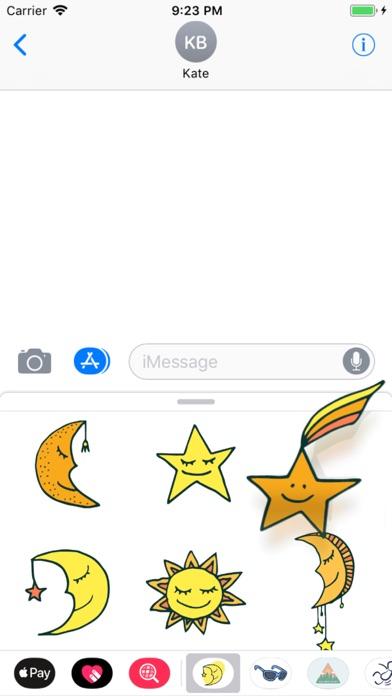 Sun, Moon & Stars Stickers screenshot two
