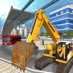 City Flyover Construction Sim