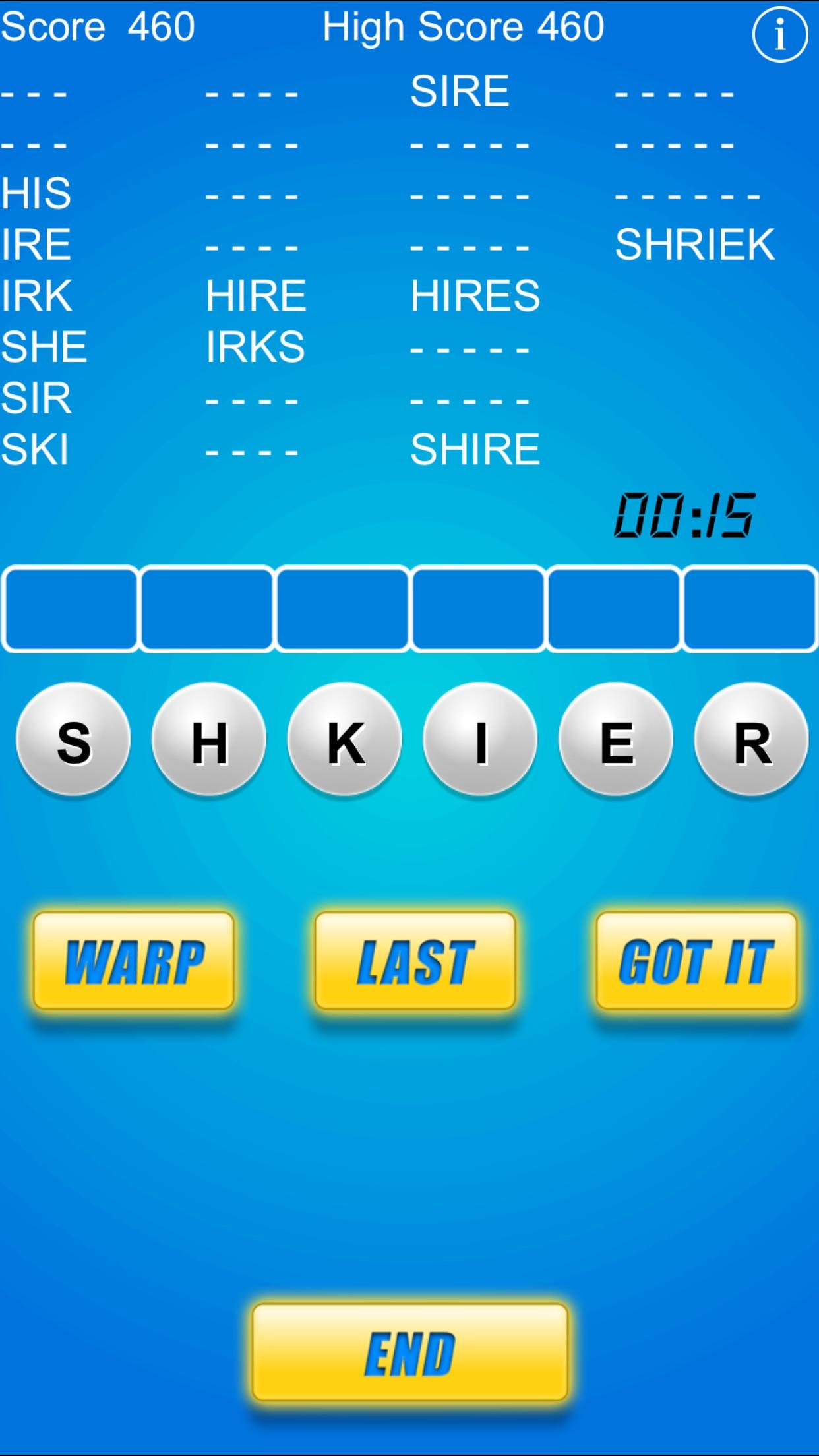Word Warp - A Word Puzzle Game Screenshot