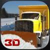 雪のトラック運転手シミュレータ3D - 大きなクレーンを運転し凍結路から氷を片付ける