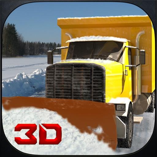 Снег симулятор водителя грузовика 3D - Драйв большой кран и убрать лед с замерзшей дороге