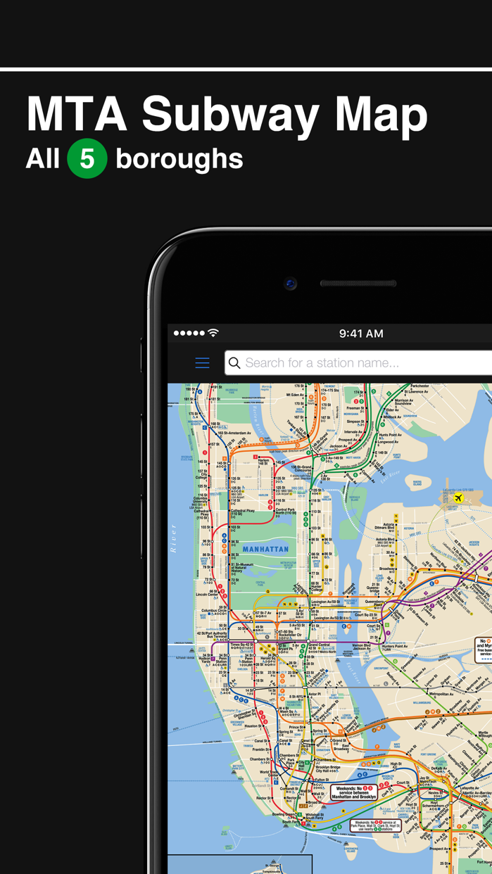 New York Subway MTA Map Screenshot