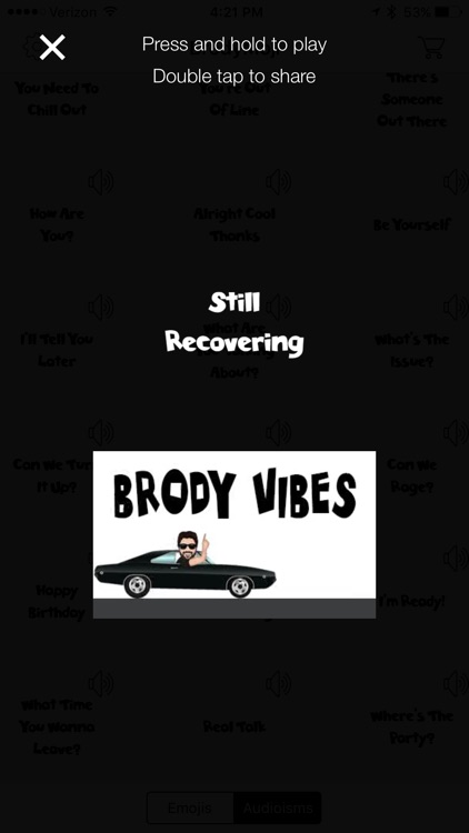 BrodyMoji with Audioisms