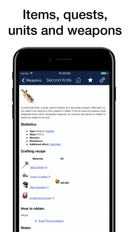 Pocket Wiki for Final Fantasy Brave Exvius