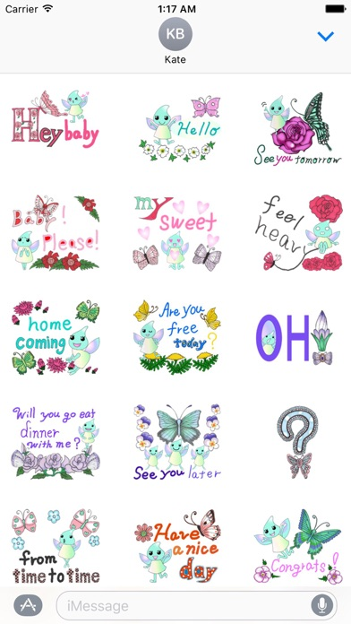 Lovely Butterfly Fairy Sticker screenshot 1