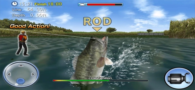 Bass fishing 3d on the app store for Bass fishing apps