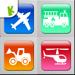 138.交通工具拼图游戏: 雪糕车和巴士等