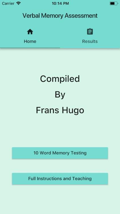 Verbal Memory Assessment