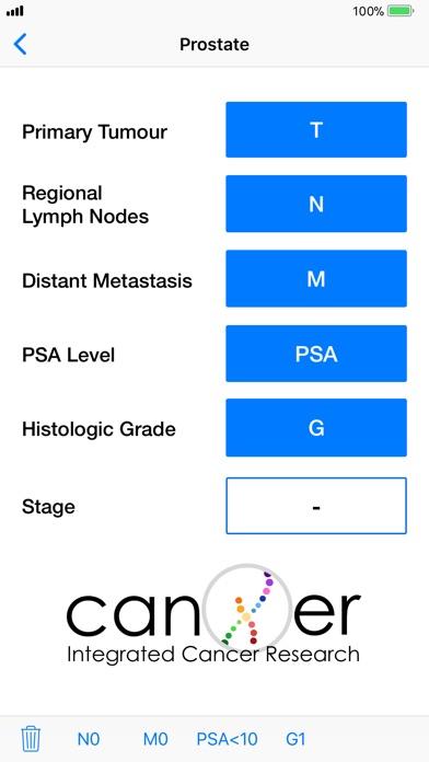 TNM Cancer Staging Calculator Screenshots