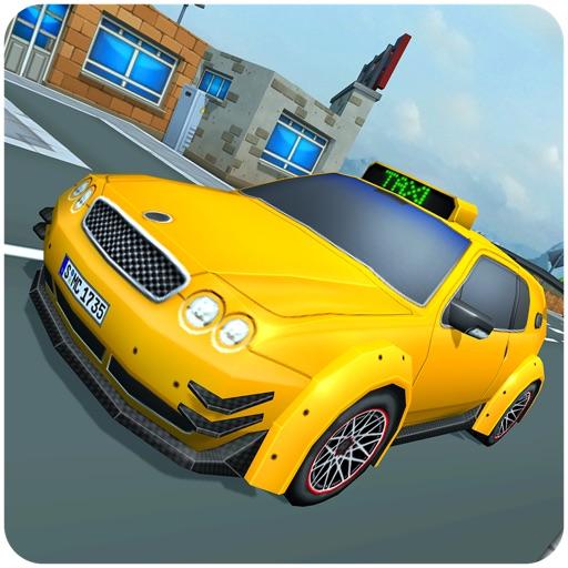 Blocky Taxi Drive Simulator 3D