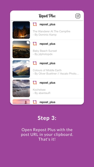 Repost Plus for Instagram for Windows