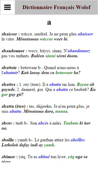Dictionnaire Français Wolofのおすすめ画像3