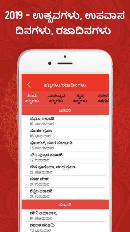 Kannada Panchang 2019 screenshot-3