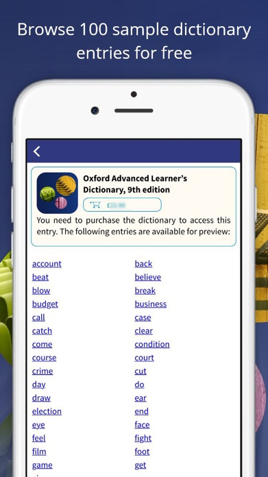 Oxford Advanced Learner's Dict Screenshot