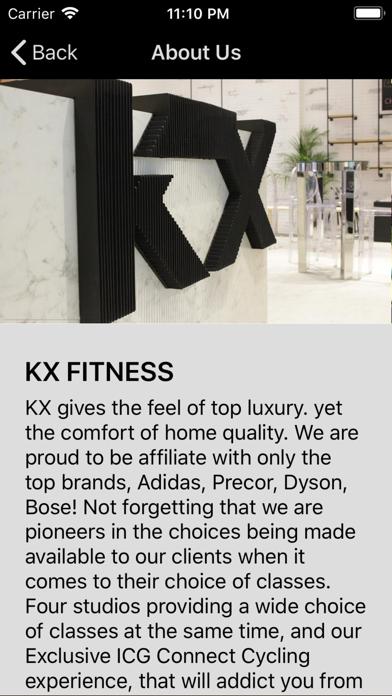 KX Fitness screenshot three