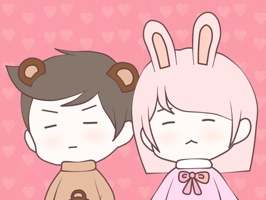 Bunny & Bear - the sticker pack for anyone who in love or want to send the cute messages for the lover, friends, family