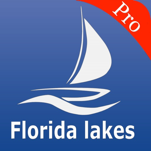Florida lakes Fishing Chart HD
