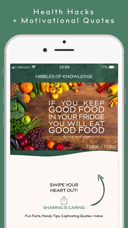 COOK + CURE | Food is Medicine screenshot-7