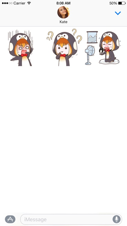Buri the Penguin Girl stickers screenshot-3