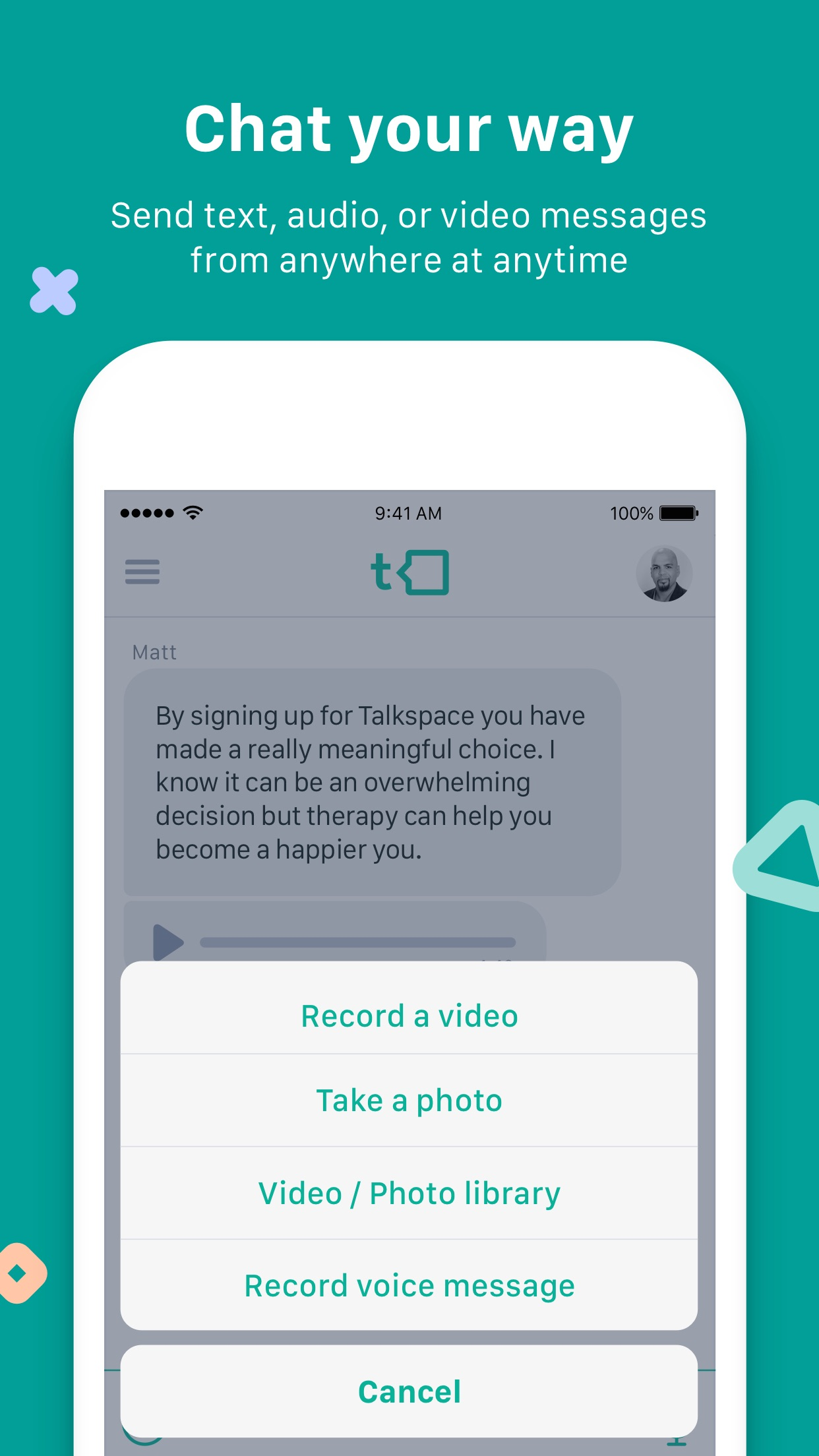 Talkspace Online Therapy Screenshot