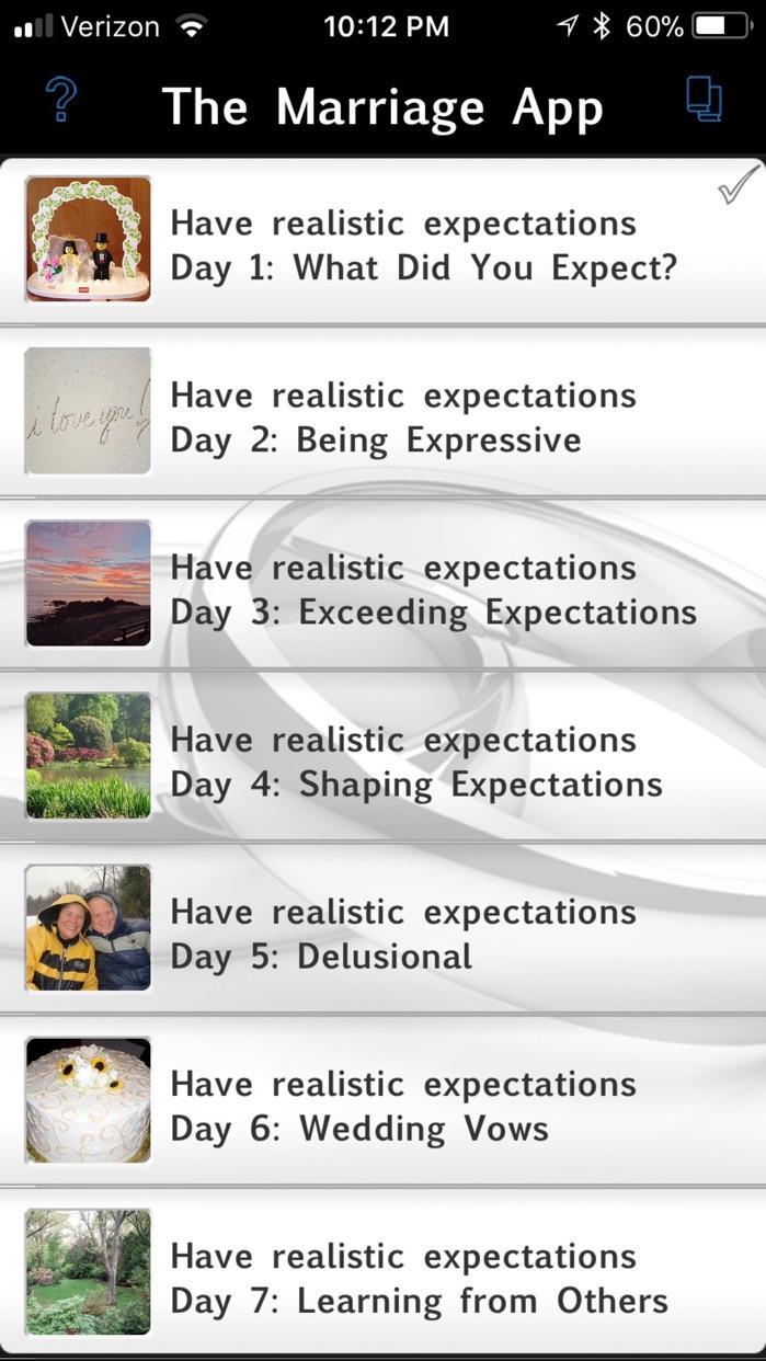The Marriage App Screenshot