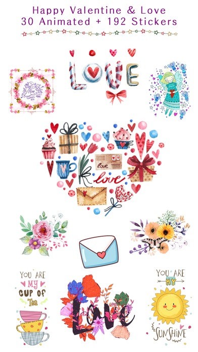 Happy Love Stickers - Animated screenshot 1