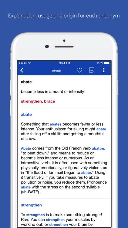 English Synonym and Antonym