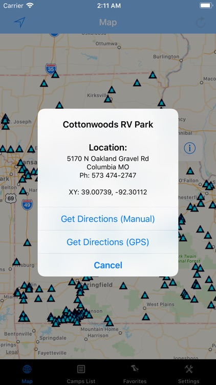 Missouri – Camping & RV spots