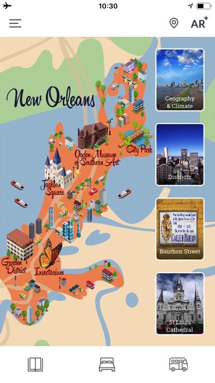 New Orleans Travel Guide & Offline City Street Map screenshot-4