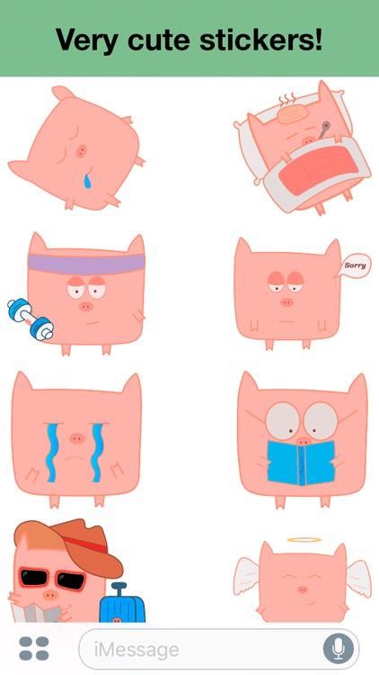 Pink Pig - Cute stickers screenshot-3