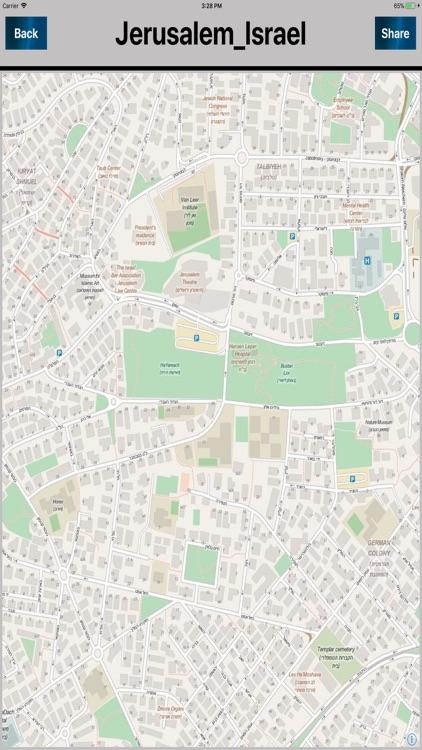 Jerusalem Israel Offline Maps