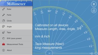 Millimeter ruler & protractor Screenshots