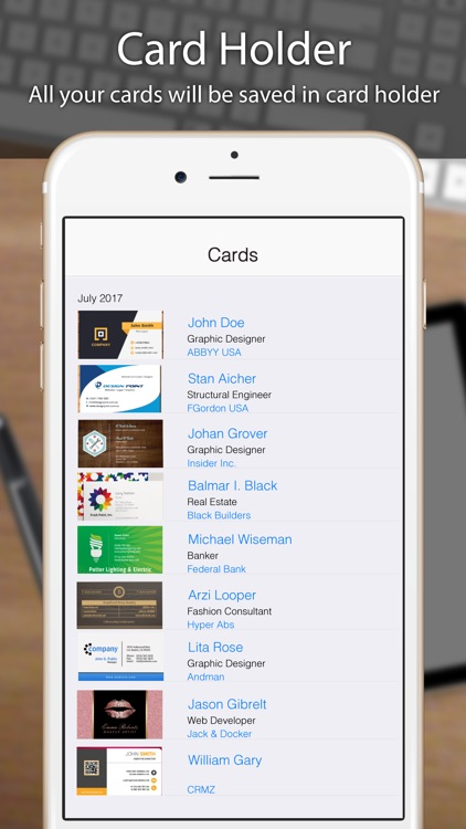 Business card scanner reader by odyssey apps ltd business card scanner reader iphone colourmoves