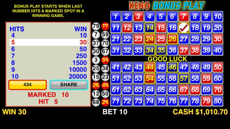 Keno Bonus Play screenshot-3