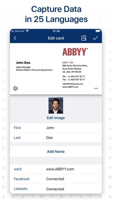≡ Business Card Scanner Pro Screenshots