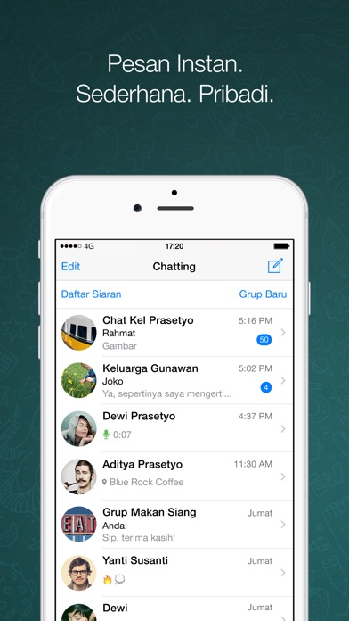 Screenshot for WhatsApp Messenger in Indonesia App Store