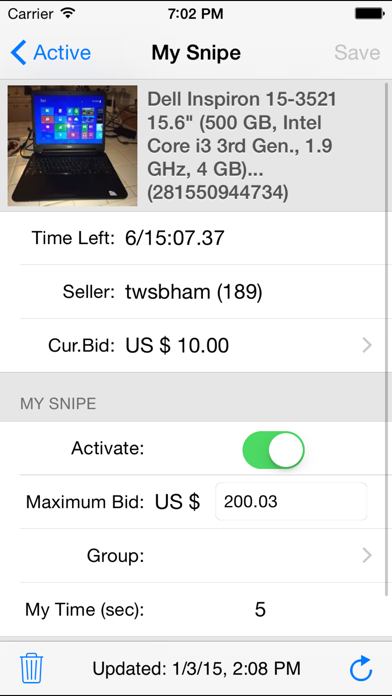 Myibidder Auction Sniper PPS for Windows