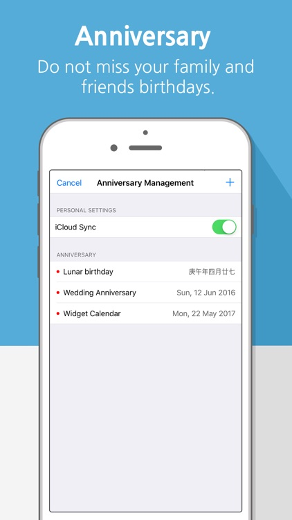 Widget Calendar : Easy&Simple screenshot-1