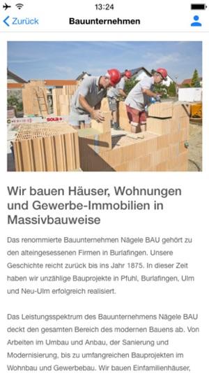 Immobilien Neu-Ulm, Nägele BAU on the App Store