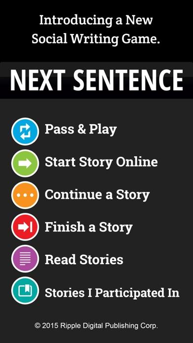 Next Sentence screenshot one