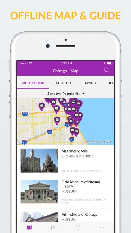 Chicago Offline Map & Guide screenshot-0