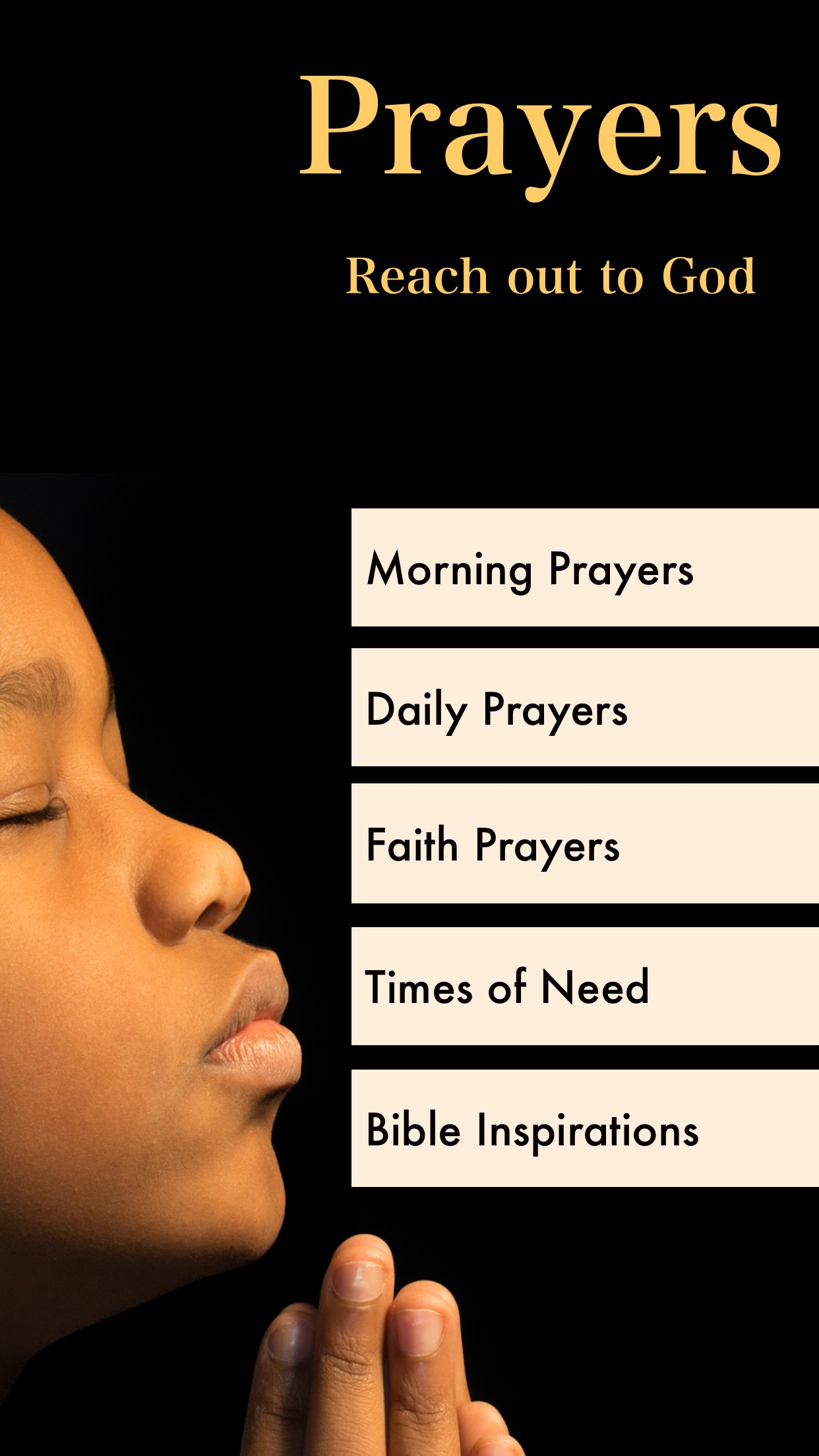 Prayer Guide Christian Prayers Screenshot